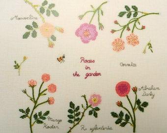 Roses in the garden by Kazuko Aoki DMC bk014