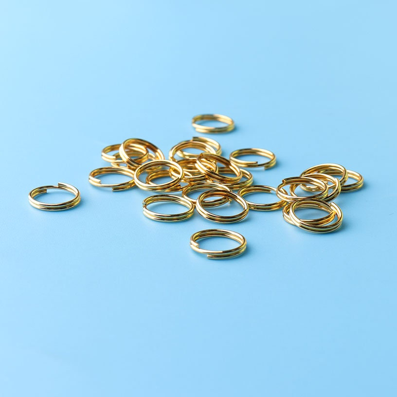 50pcs TINY O-Rings gold tone metal O-Rings hoops Sterling gold 10mm ...