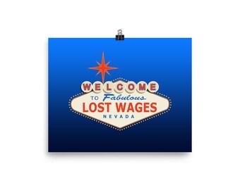 Funny Las Vegas Souvenir Poster