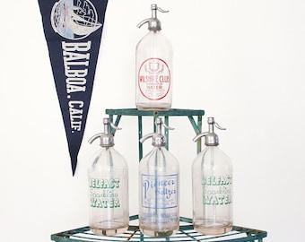 Vintage Seltzer Bottle / Siphon Bottle / Mid Century Barware / Your Choice