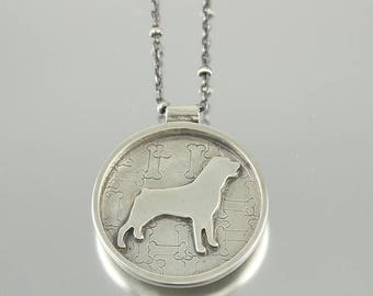 I Love My Rottweiler Sterling Necklace