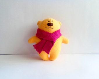 beige toy teddy bear, Stuffed bear, stuffed toy, plush bear, stuffed animal, soft bear,   artist teddy bear, plushies bear, christmas gift