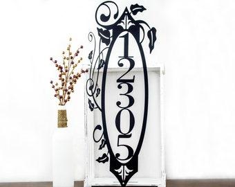 Vertical House Number Metal Sign | Address Sign | Metal Wall Art | Address Plaque | Metal House Number | Custom Sign