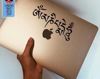 Om Mani Padme Hum mantra Macbook / Laptop Vinyl Decal