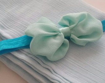 "Muslin Gauze Swaddle , 35"" x 46"" Muslin Wrap in Baby Blue"
