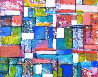 ACEO original - geometric abstract