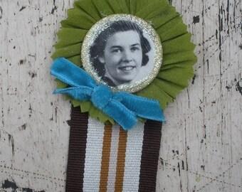 Flighty Lady, Vintage Style Badge - Rebekah Lodge Inspired