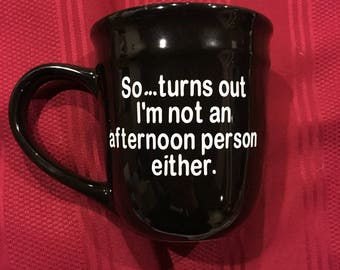 So...turns out I'm not an afternoon person either