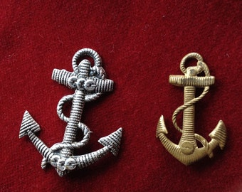 2 metal anchor stamping or applique