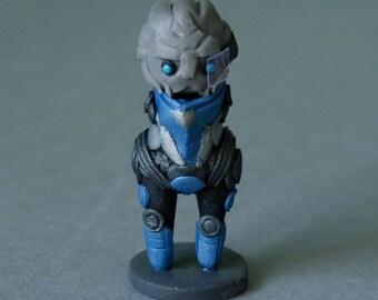Mass Effect, Garrus Vakarian, Turian, Chibi, Figurine,  Handmade, Polymer Clay