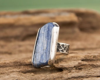 Kyanite Ring, Sterling Silver Ring