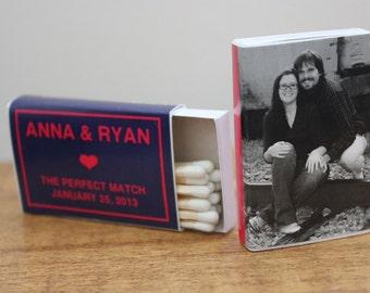 "75 Custom Matchbox Wedding Favors Matchboxes - ""Anna Style"""