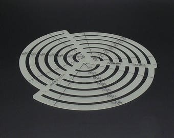 JAPAN Uzumaru Scale Curve Ruler Oval Shaped cutting drawing KYOSHIN ELLE Leather