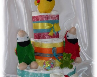 KIT for 3 levels to make yourself - DIY diaper cake