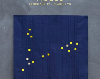 Pisces Constellation Block PDF pattern - Quilting Patchwork