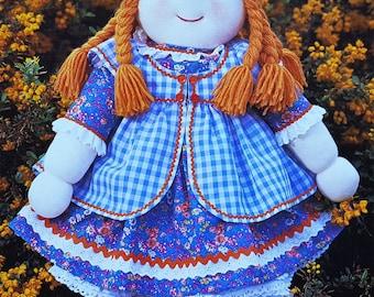 Vintage Large Rug Doll Digital Pattern.