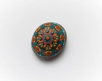 mandala stone, pebble art hand painted