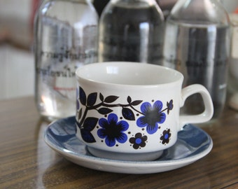 Vintage 1960's Staffordshire Ironstone teacup and saucer
