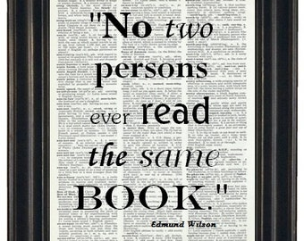 Typography QUOTE Print Dictionary Art Print Saying Dictionary Book Art Print Upcycled Vintage Wall Art 8 x 10  Book Page Print