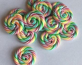 Marshmallow button handmade polymer clay fimo - HANDMADE BUTTONS