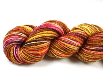 Sunset--hand dyed worsted weight, merino superwash (218yds/100gm)