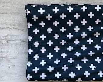 Blue with White Cross Change Mat Cover, Change Pad Cover