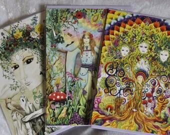 Six Goddess / Womanspirit Art Greetings cards