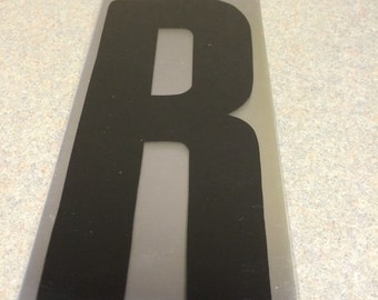 10 inch Black letter R marquee letter signage.