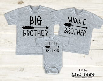 Shirts For 3 Brothers, Matching Brother Shirts,  3 sibling brother shirts, 3 brother shirts, 3 brother shirt set, shirts for three brothers