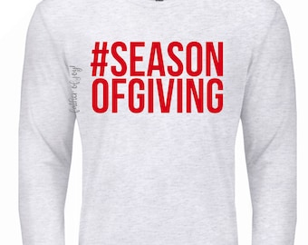 Soft Style Season Of Giving Love Sleeve Red & White
