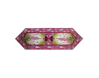Wildfire Designs Alaska Field of Fire Fireweed Flower Table Runner Applique Quilt Pattern