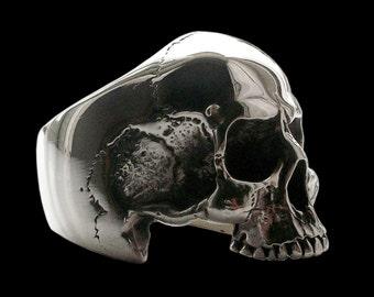 Skull ring - Sterling Silver Anatomical Keith Richards Skull Ring