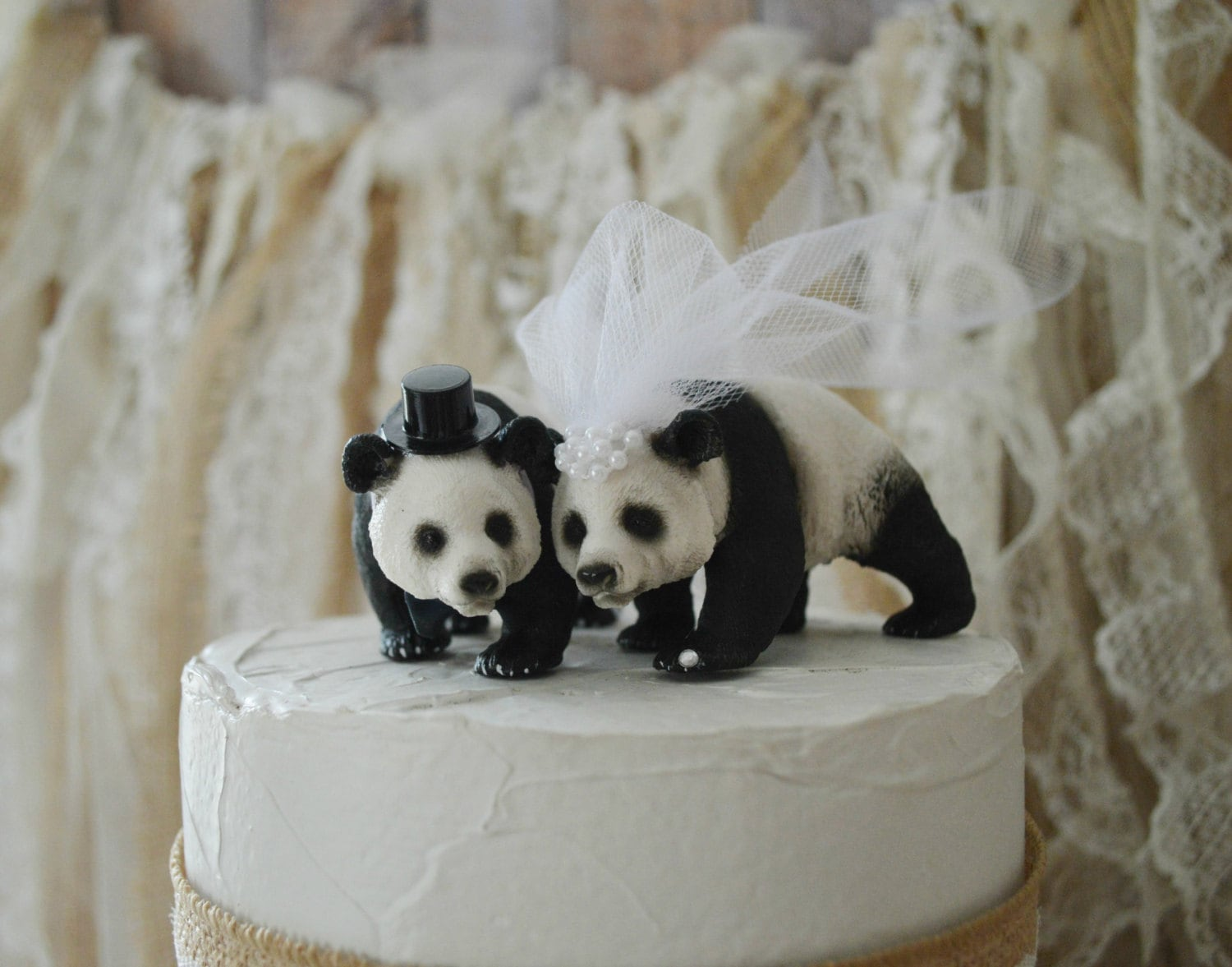 brown bear wedding cake toppers panda wedding cake topper and groom decorations 12190
