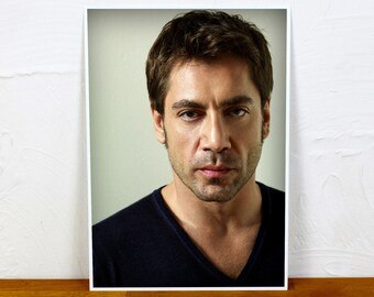 Javier Bardem Poster Print - Colour and BW - 2 sizes - A4 and A3