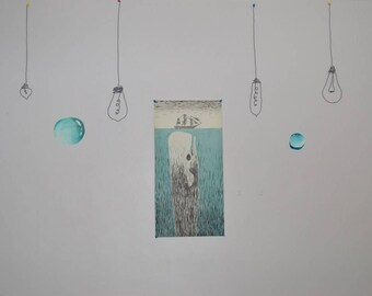 Wire Lightbulb Wall Hanging