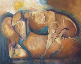 Horse decor, modern art, wall art, horse art, print