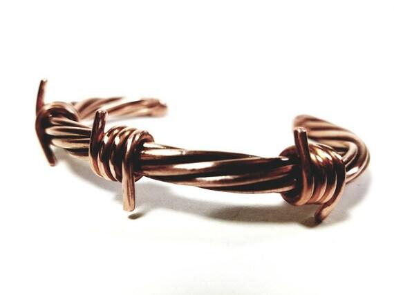 Austin Bracelet minimalistischen Kupfer Stacheldraht Armband