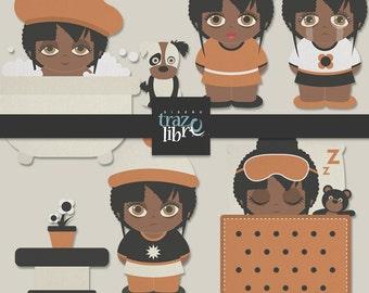 Digital CLIP ART: Digital toddler | INSTANT Download | Digital Little girl | Scrapbooking digital | Commercial Use | Digital kids