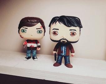 Joel and Ellie pop custom set