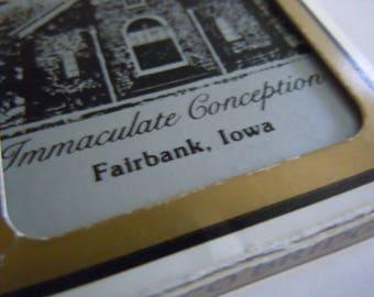 Immaculate Conception Fairbank Iowa Playing Cards Catholic Church