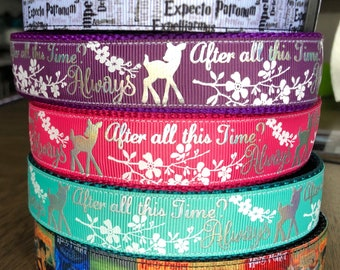 "Please Read* Handcrafted 1"" After All This Time, Spells, Books Harry Potter Dog Collars"