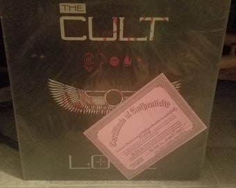 The Cult autographed l.p. and certificate of authenticity