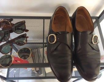 Chaussures française Paraboots mono boucles noires