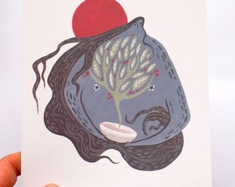Mystical Gardener- A5 Illustration Print