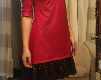 Eco Leather -red dress