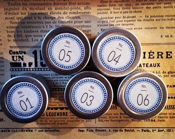 Aluminum cans are cute! Number Stickers (circle)