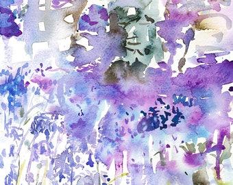 Bluebell Wood/Bluebells/Bluebells Giclée Print/Bluebells Watercolour Print