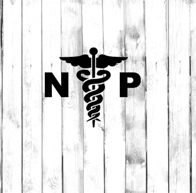Nurse practitioner caduceus symbol zoom biocorpaavc