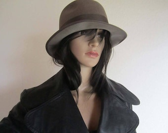 Vintage 50s wool felt hat has