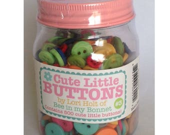 Cute Little Buttons Jar #3 500 buttons by Lori Holt for Riley Blake Designs